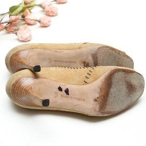 Manolo Blahnik Shoes   Manolo Blahnik Suede Open Toe Pumps